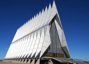 geo-prison22-tetrahedral-shaped-church-us-air-force-academy-cadet-chapel-colorado-springs-colorado
